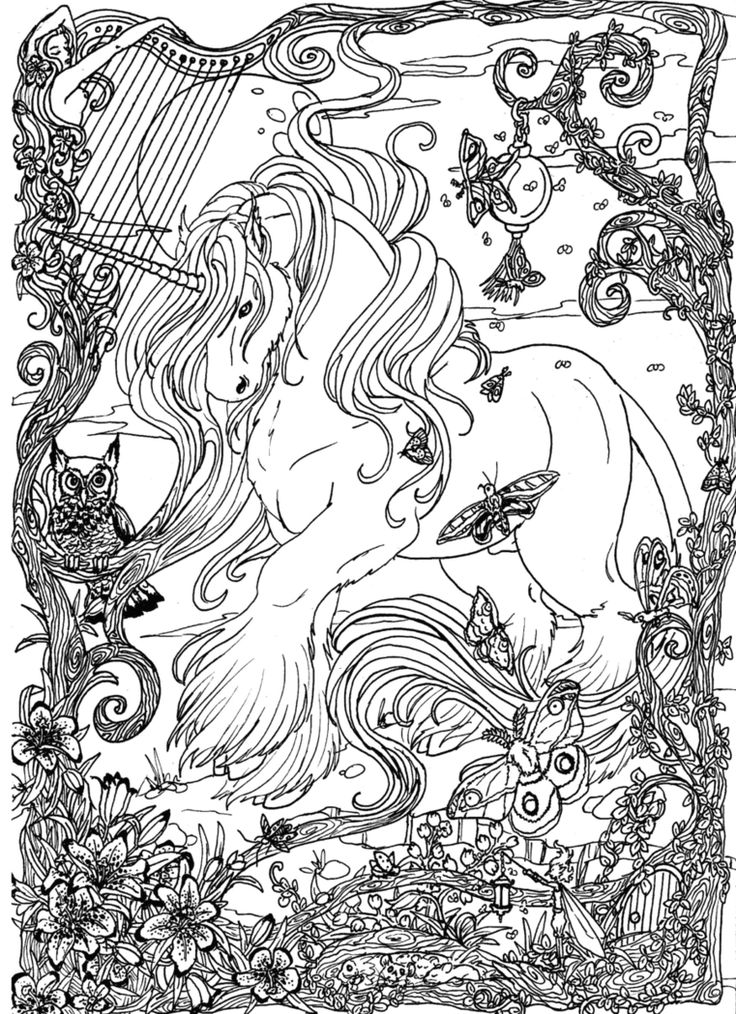The 13 best images about fantasy animals on Pinterest - new animal coloring pages with patterns