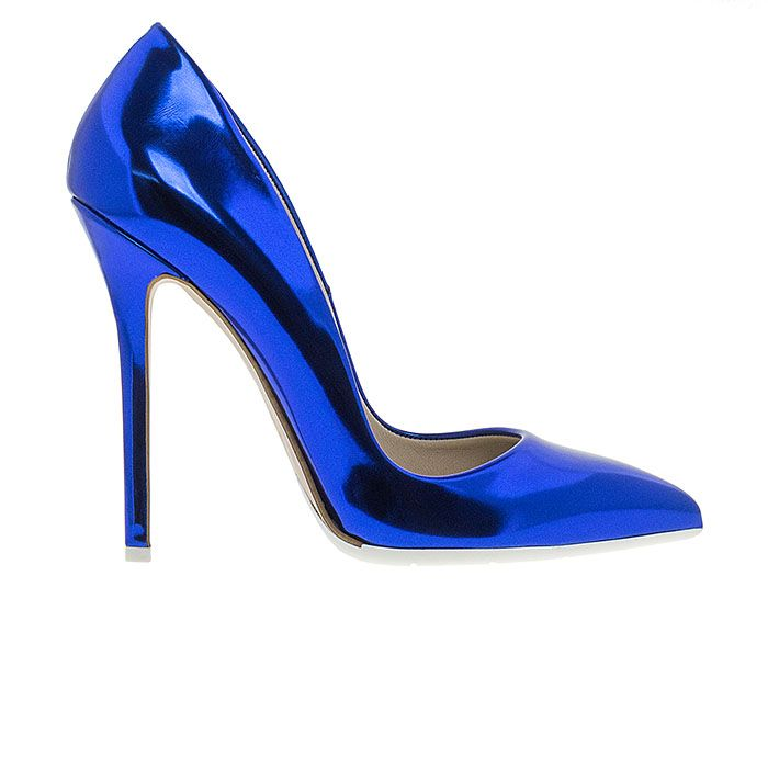 1203A00-BLUE SPEC www.mourtzi.com #pumps #heels #mourtzi #metallics #wow #greekdesigners