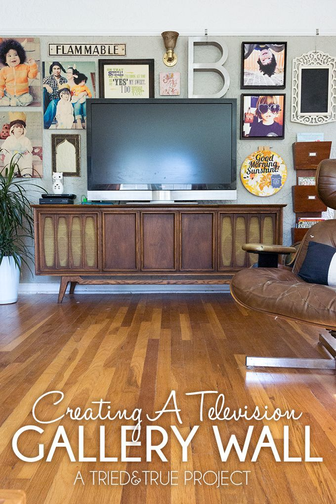 How to add pictures and random items around a TV to create a Gallery Wall!