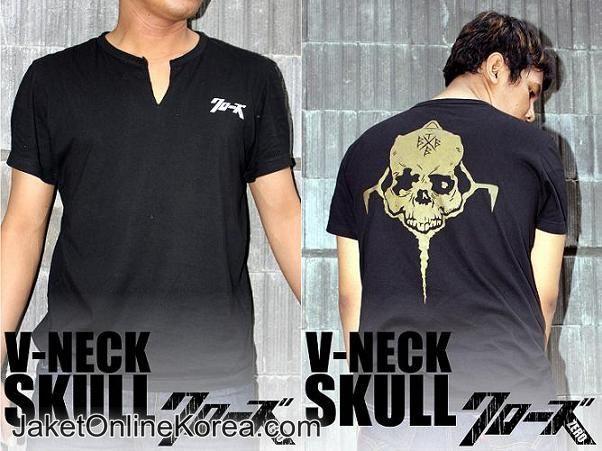 V-Neck Takiya Genji Skull