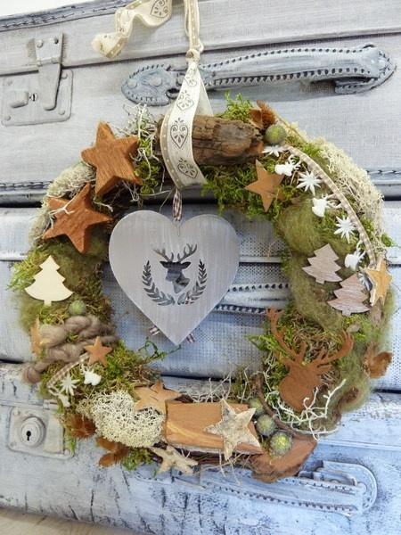 *Ein Türkranz für die Weihnachtszeit, der Naturherzen höher schlagen lässt!*    +Aus wunderschönen Zutaten der Natur und ganz bezaubernden Accessoires