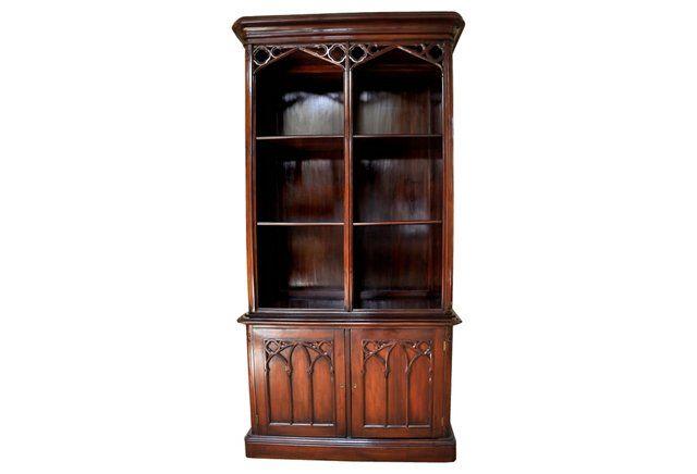 Gothic Mahogany Bookcase - One Kings Lane. $4,495