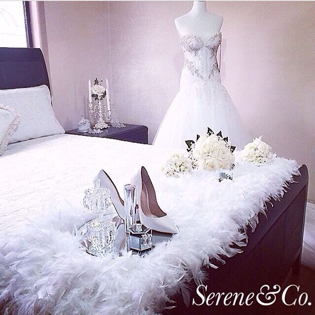 Bridal room set up