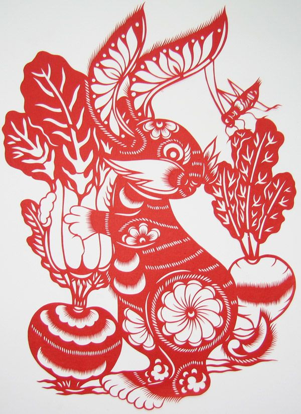 chinese zodiac rabbit pictures pics images and photos for bunnies chinese paper cutting. Black Bedroom Furniture Sets. Home Design Ideas