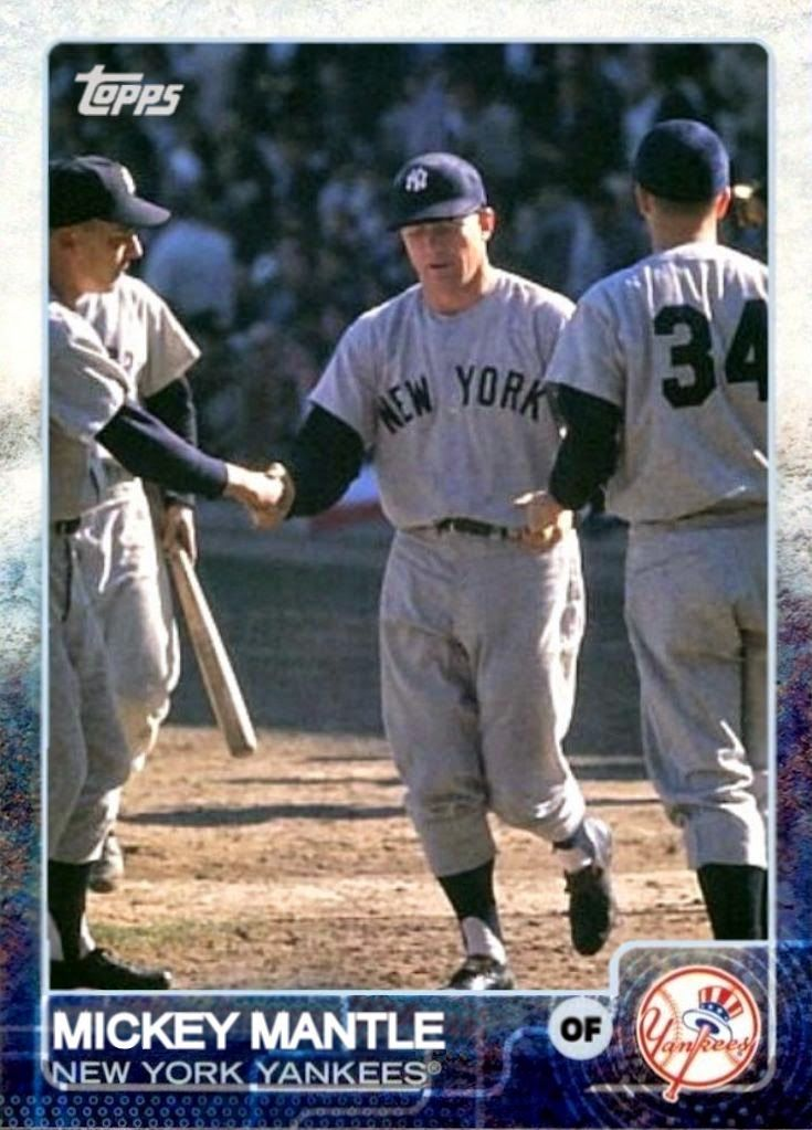 2015 Topps Mickey Mantle, New York Yankees, Baseball Cards That Never Were