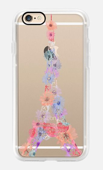 Casetify iPhone 7 Case and Other iPhone Covers - Flower Eiffel Tower / Paris by Marta Olga Klara | #Casetify