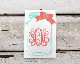 country monogram car decal – Etsy