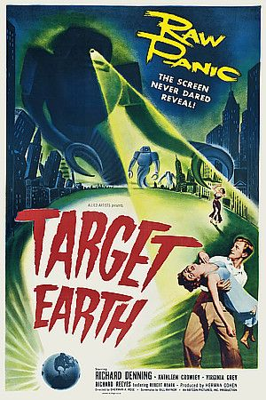 Target Earth Vintage Sci-Fi Cult & Pulp Film Movie Posters - 1954