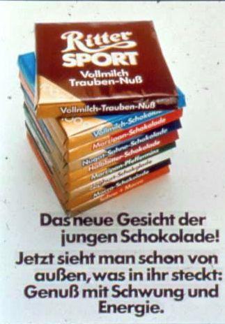 1972 - RITTER SPORT wird bunt