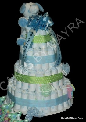 I can also make rolled diapercakes, only when custom ordered.