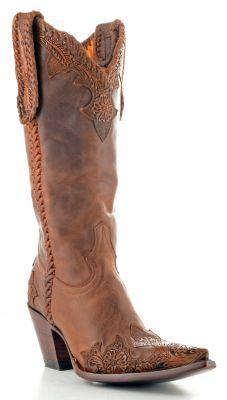 Womens Old Gringo Julian Rohan Boots Rust #L551-4 via @Allens Boots