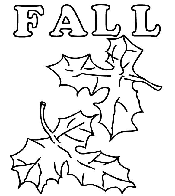 fall coloring page 4 - Leaf Coloring Pages Preschool