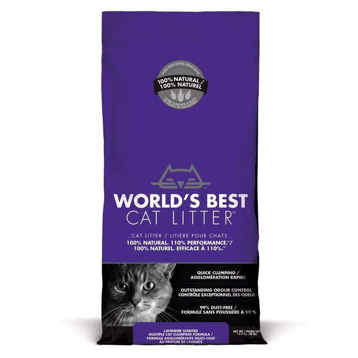 Animalerie  Litière Worlds Best Cat Litter senteur lavande pour chat  2 x 127 kg