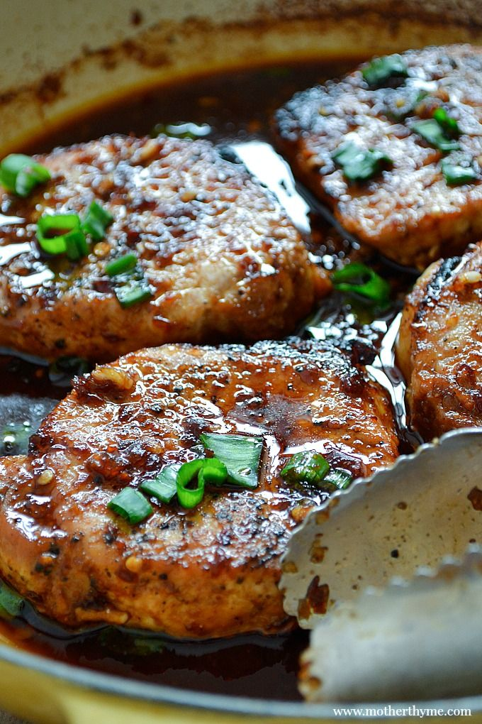 Korean-Style Pork Chops...serve with a side of rice and some steamed veggies for a quick and delicious dinner!!