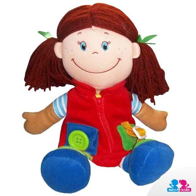 Von einer Stoffpuppe träumen viele Mädchen. Sie können sie in Arm nehmen, mir ihr spielen… und weil sie immer lächelt, sorgt sie auch immer für gute Laune.   #puppe #stoffpuppe #kinderspielzeug #spielzeug