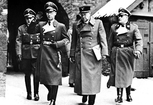 "1942 2nd February. Reichskommisar Josef Terboven and Vidkun Quisling at Akershus castle, Oslo. On this day the german occupants appoint Quisling ""ministerpresident"" of Norway."