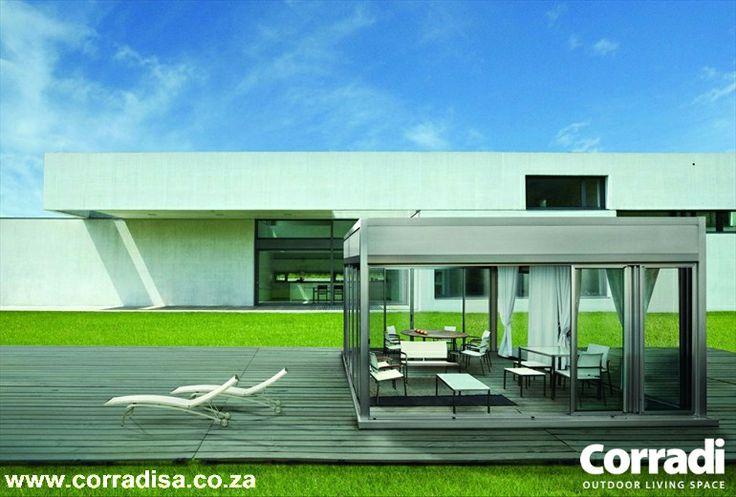 Pergotenda Kubo - Italian, designer pergola with retractable roof.
