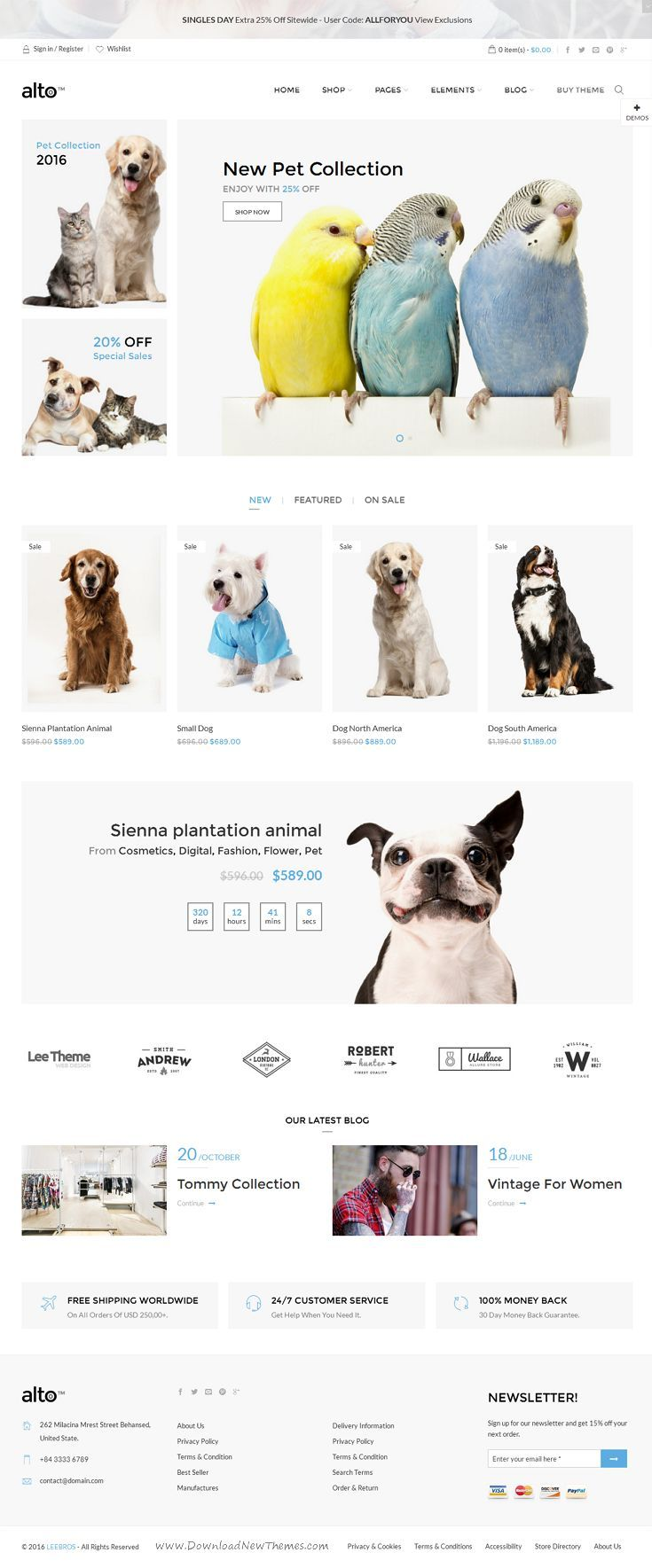 Alto is Awesome AJAX WooCommerce Theme is suitable for fashion and other eCommerce #website with 12+ stunning layouts. #petshop #birds Download Now!