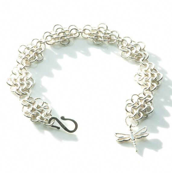 Sterling Silver European 4in1 Chainmaille by FionaKDesigns on Etsy #handmade