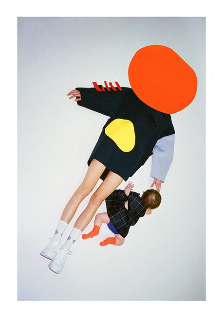 Jacquemus, fall 2014; large blocks of colour have been used to create contrast whilst drawing attention to the form and structure of the garment. photocredit- jacuemus.com