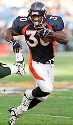 Terrell Davis is a retired NFL running back who played for the Denver Broncos and a person with migraine.