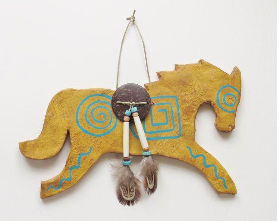Wild horse pony Mustang western native american by MokiTradingPost