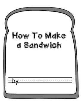 sandwich template for writing - 25 best ideas about procedure writing on pinterest