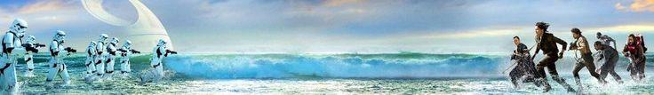 "Rogur One Star Wars Story 24"" x 144"" Inches Ocean Battle Scene Vinyl Banner TX"