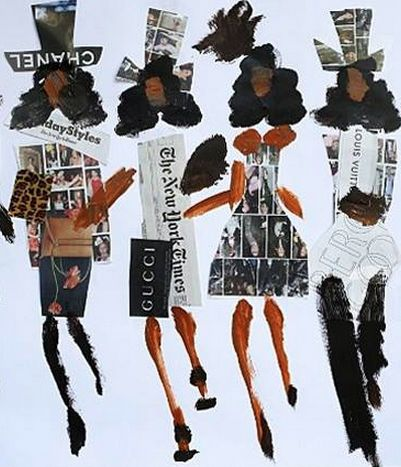 Fashion illustration by Donald Drawbertson. In 'real life' Drawbertson is really Donald Robertson, one of the three founders of MAC Cosmetics and the current head of Creative Development at Bobbi Brown.