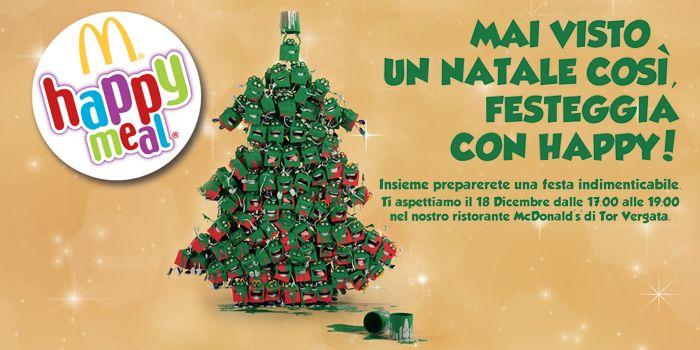 Mai visto un Natale così, festeggia con Happy!  Insieme per preparare una festa indimenticabile. Il 18 dicembre, dalle 17 alle 19 nel nostro ristorante.