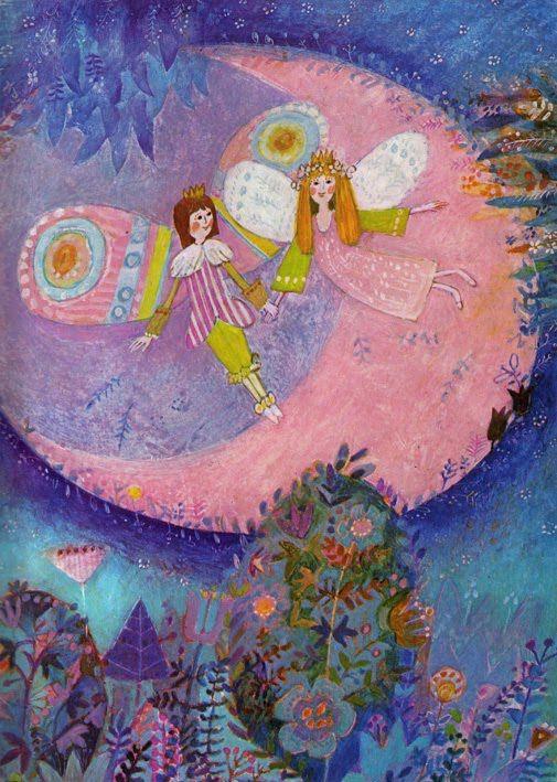 """""""Poucette"""" de Hans Christian Andersen, illustré par Josef Paleček."""