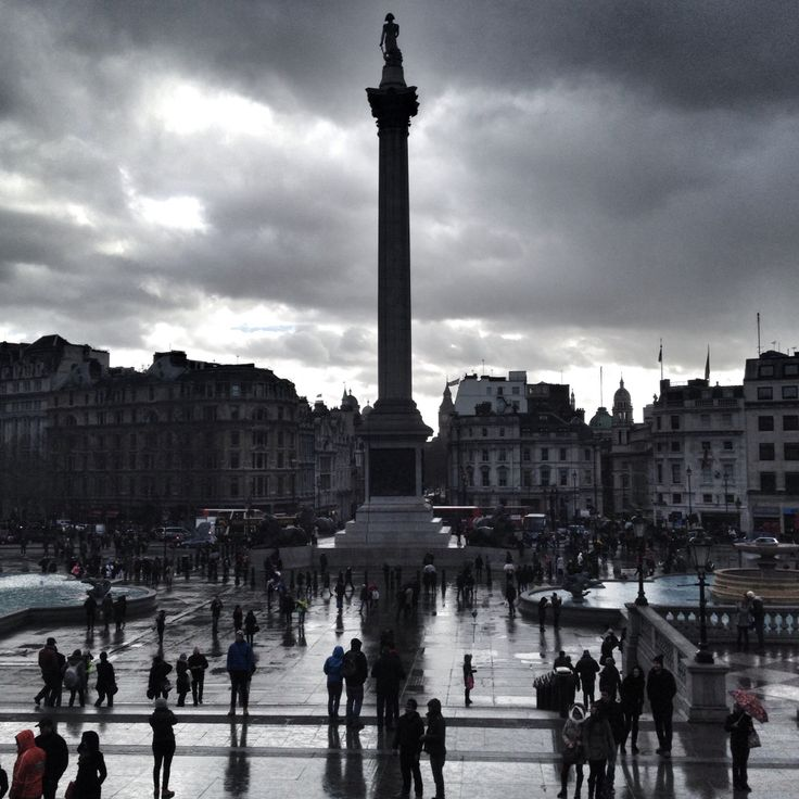 Dark times at Trafalgar Square. London. February '14