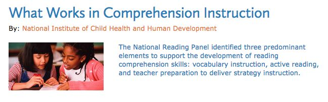 "UNDERSTANDING: The Article ""What Works in Comprehension Instruction"" on the Reading Rockets helped deepen my understanding of Reading Comprehension through the explanation of ""three predominant themes in the research on the development of reading comprehension skills"". Specifically, outlining the importance of teacher preparation and it's link to student achievement contributed to my own understanding of my role as an educator and how I must be prepared to support my students."