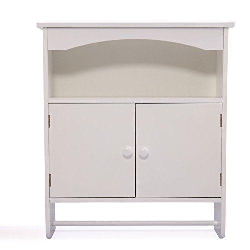 Jaxpety White Wooden Bathroom Wall Cabinettoilet Medicine Storage