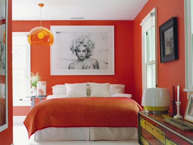 Dormitorio color naranja awesome interiors pinterest - Colores pared dormitorio ...