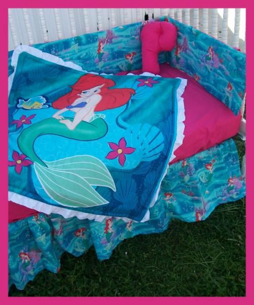 New crib bedding set m w THE LITTLE MERMAID Ariel fabric. 17 Best images about Inspired By Little Mermaid on Pinterest
