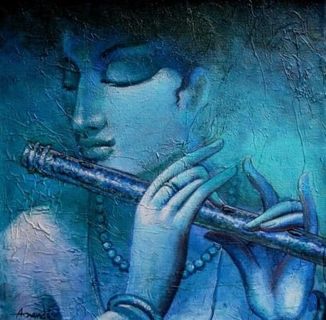 """New artwork added on IndianArtCollectors! """"Krishna"""" by Ananda Das  See more artworks by Ananda Das at: http://www.indianartcollectors.com/artist/AnandaDas"""