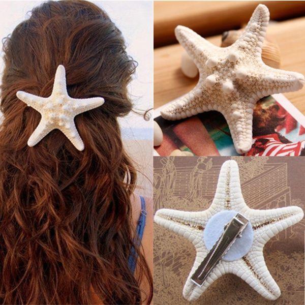 Women Girls Nice Starfish Hair Clip Beach Sea Star Hairpin
