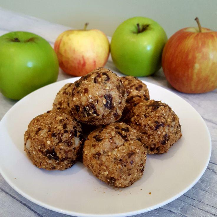 Apple oat balls