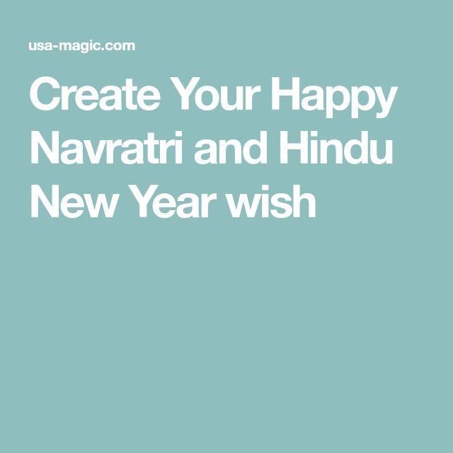 Create Your Happy Navratri and Hindu New Year wish