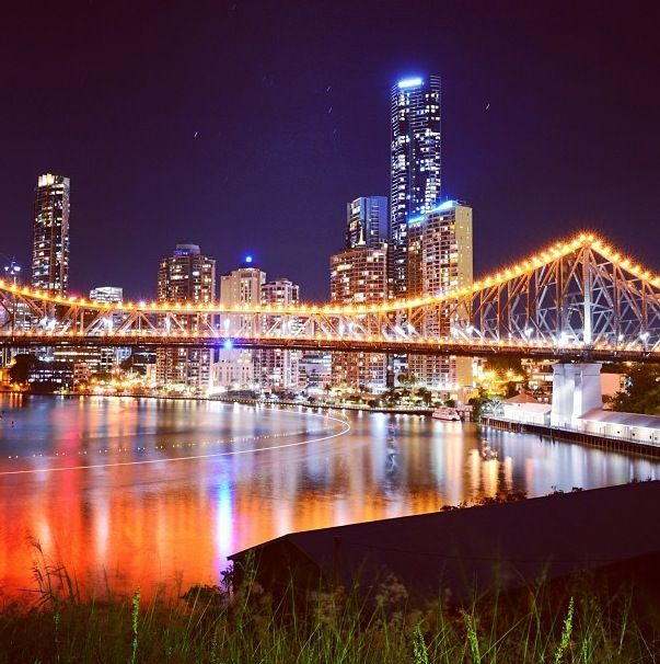 Story Bridge -- Brisbane, Australia. Relatives aren't getting any younger