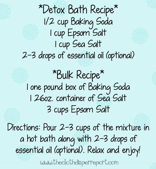 Detox Bath Recipe http://www.newfoundationshealthcoach.com/refresh-and-renew-your-core
