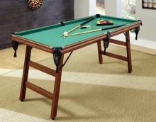 Home Styles Real Shooter 6 Foot Folding Portable Pool Table-Game Table