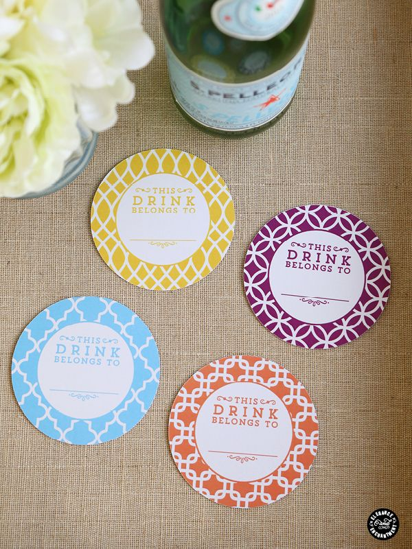 Printable Coasters with Drink Flags - Inspiration DIY