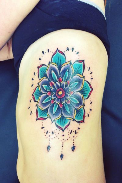 Lotus Flower Side Tattoo #tattooideaslive  #lotus #flower #side tattoo