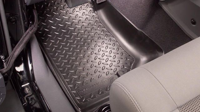 Toyota Tundra 2007-2009  Husky Classic Style Series Front Floor Liners - Black