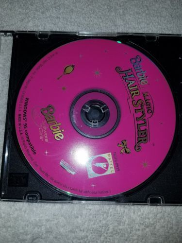 Barbie Magic Hair Styler PC Game 1997 COMPLETE CD-Rom RARE Software - Complete