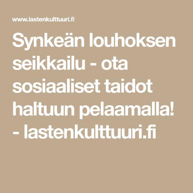 Synkeän louhoksen seikkailu - ota sosiaaliset taidot haltuun pelaamalla! - lastenkulttuuri.fi