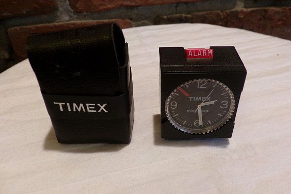 Timex Mini Alarm Clock from the 1970's, 1970's Timex alarm clock, Mini Timex alarm, mini alarm clock, travel alarm clock, Morethebuckles