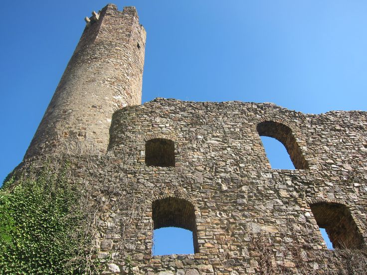 Ruin castle of the beaten track in Germany.